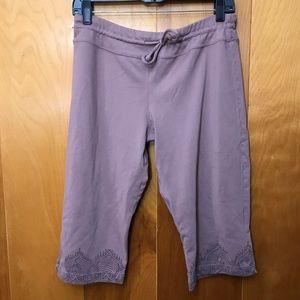 Prana | Mauve Yoga Capri Shorts Size Medium